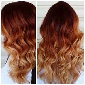 Ombré Hair Auburn : red copper blonde ombre hair by whitney bremer lafrenz hair ombre hair auburn hair ~ Dode.kayakingforconservation.com Idées de Décoration