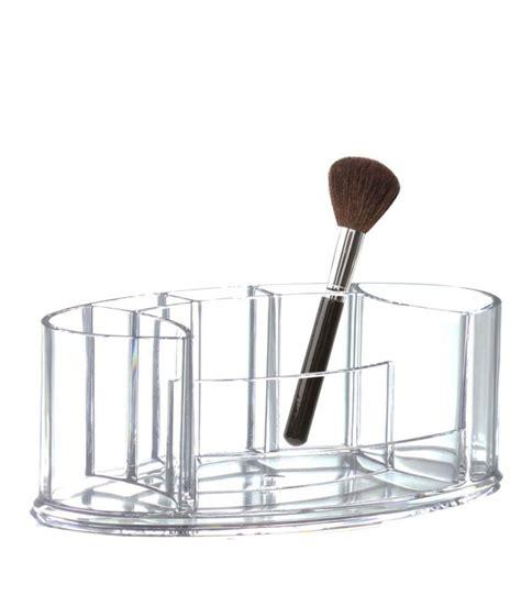 rangement maquillage transparent en acrylique oval wadiga