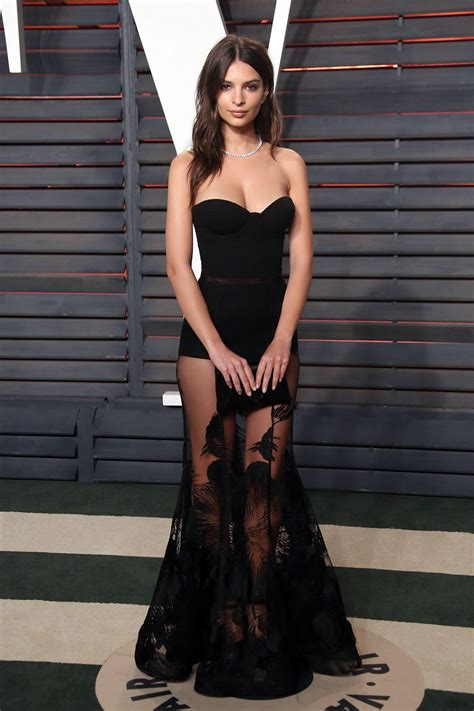 Emily Ratajkowski - Attends the 2016 Vanity Fair Oscar ...