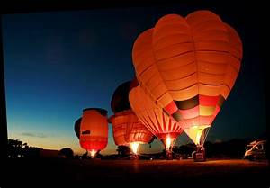 Balloons at night, a photo from North Yorkshire, England ...
