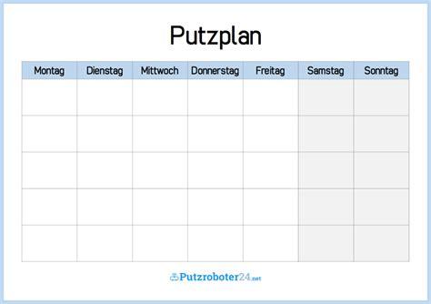Putzplan Für Die Wohnung by Putzplan Vorlage 8 Putzpl 228 Ne F 252 R Paare Wgs Singles