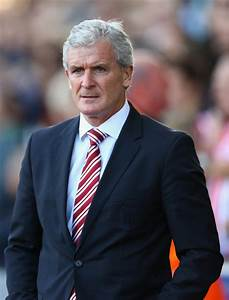 Mark Hughes in Stoke City v West Bromwich Albion - Premier ...