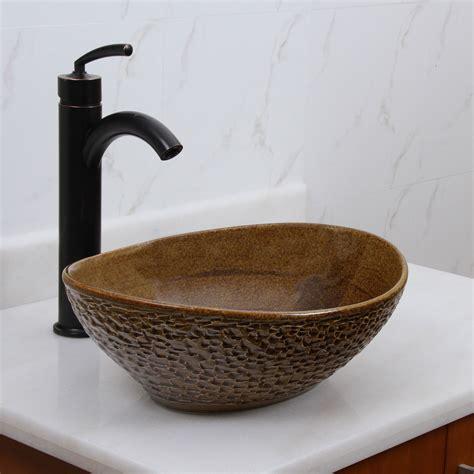 elite  oval coffee brown glaze porcelain ceramic