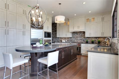 pictures of kitchens with white cabinets and black appliances mackenas sw contemporary kitchen calgary 9944