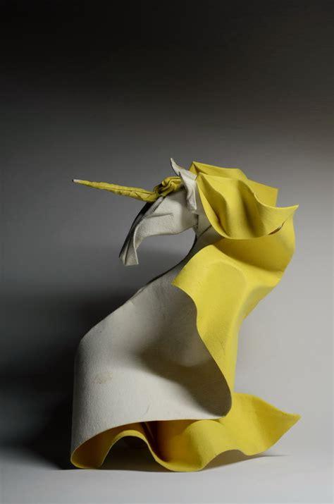 wet folded origami by hoang tien quyet yields unusual