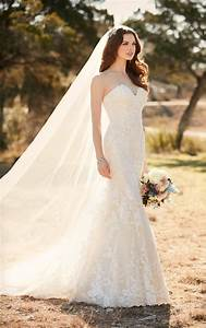 lace fit and flare wedding dress essense of australia With flare wedding dresses