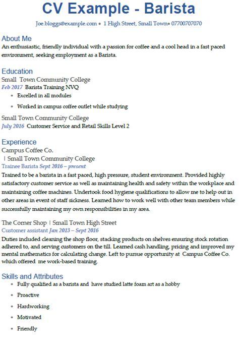 resume email address barista cv exle icover org uk