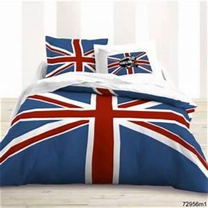 Housse De Couette Anglais : parure de lit drapeau anglais deco londres ~ Medecine-chirurgie-esthetiques.com Avis de Voitures