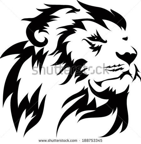 gallery images  information simple lion head outline burn  wood lion tattoo small