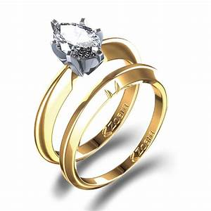 oval cut engagement ring wedding set in 14k yellow gold With 14k gold wedding rings
