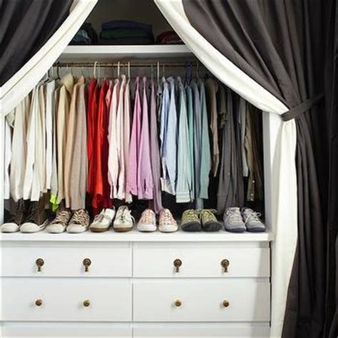 Walk In Closet Curtain by Closet Curtains Transitional Closet Lonny Magazine