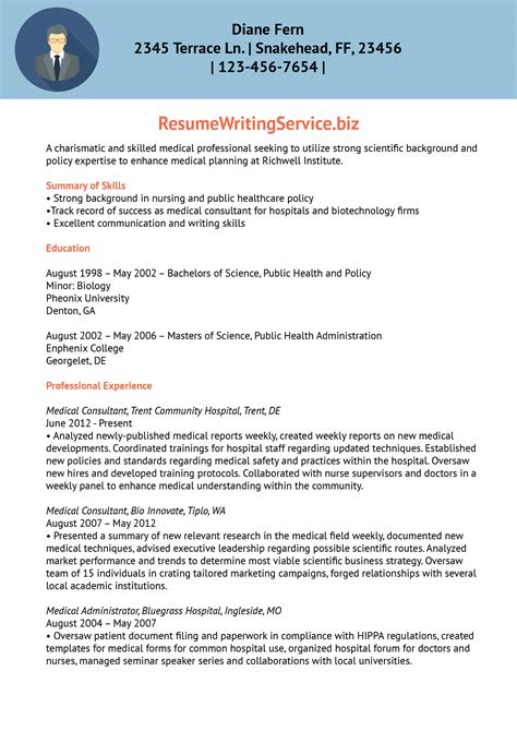 Healthcare Resume Writing Services by Service Planning Resume Sle Resume