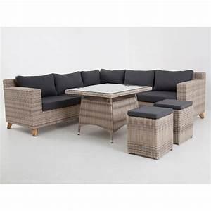 Lounge Set Mit Esstisch : kentucky dining lounge set ecke mit esstisch und 2 hocker graubraun meliert garten m bel f r ~ Bigdaddyawards.com Haus und Dekorationen