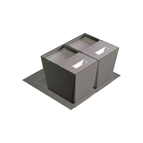 tiroir poubelle cuisine poubelle de cuisine pour tiroir 2 bacs