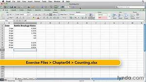 Add Function In Excel How To Use The Excel Count Function Lynda Com Tutorial