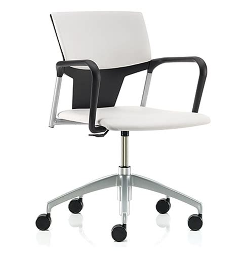 Acrylic Office Chair Uk by Pledge Ikon Plastic Swivel Chair Upholstered Seat Back