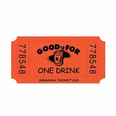 Tickets Roll Drink Single Orange Ticket Classic