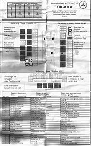Mercedes Benz S430 Fuse Box Diagram For 2006