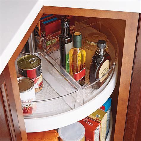 lazy susan organizer for kitchen cabinets interdesign 174 cabinet binz lazy susan quarter wedge 9682