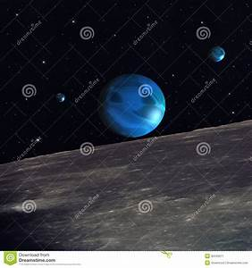 Illustration Of The View Of Outer Space From The Moon ...