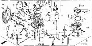 Honda Atv 2005 Oem Parts Diagram For Carburetor   U0026 39 04  U0026 39 05
