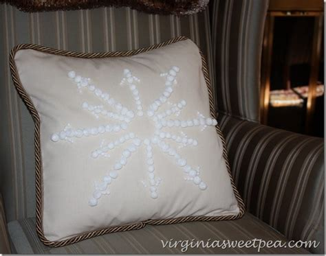 Beaded Snowflake Embellished Pillow Cover Pottery Barn by Knockoff Pottery Barn Snowflake Embroidered Pillow Sweet Pea