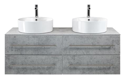 2 Waschbecken Mit Unterschrank by Unterschrank Betonoptik Mit 2 Aufsatzwaschbecken
