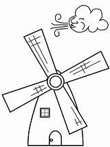 Coloring Windmill Netherlands Windmills Printable Getcolorings Getdrawings sketch template