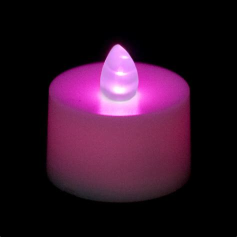 Battery Operated Tea Light Candle Purple
