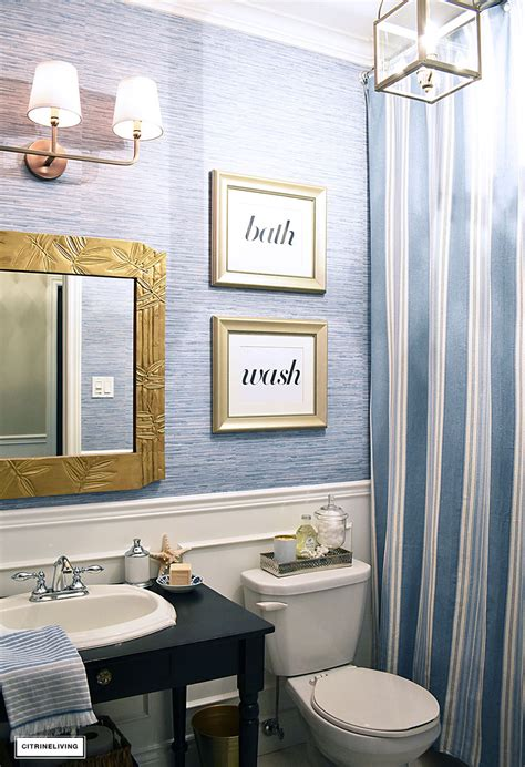 How To Get Bathroom Wallpaper by Our Small Bathroom Makeover Reveal