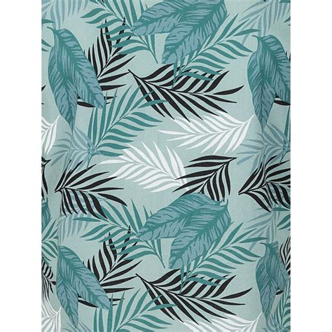 Collectif Mainline Cool Palm Print Green Fabric ...
