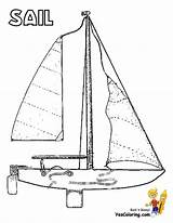 Coloring Pages Sailing Boat Ship Boats Colouring Yacht Ships Boys sketch template