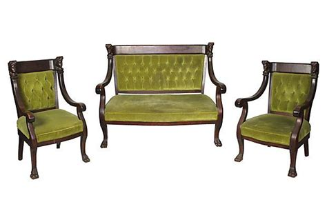 Settees And Armchairs by Edwardian Set Including One Settee And Two