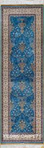 Blue rug runner persian rug oriental turkish carpet hand for Blue turkish carpets