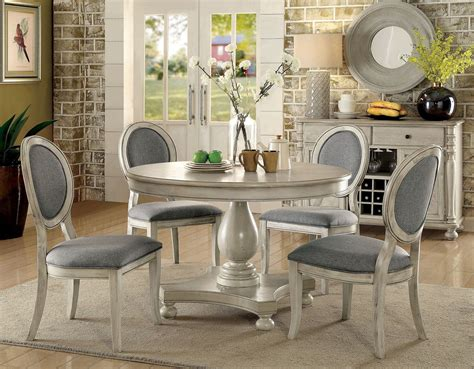 kathryn antique white dining room set  furniture