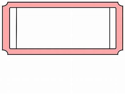Ticket Template Clipart Clip Blank Tickets Carnival