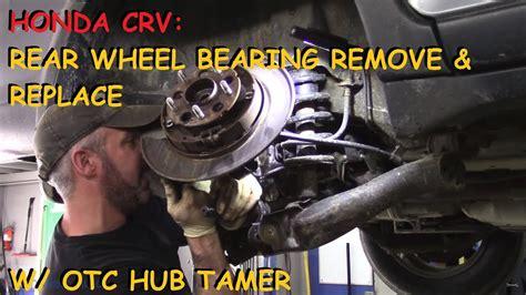 honda crv rear wheel bearing  repairs part  youtube