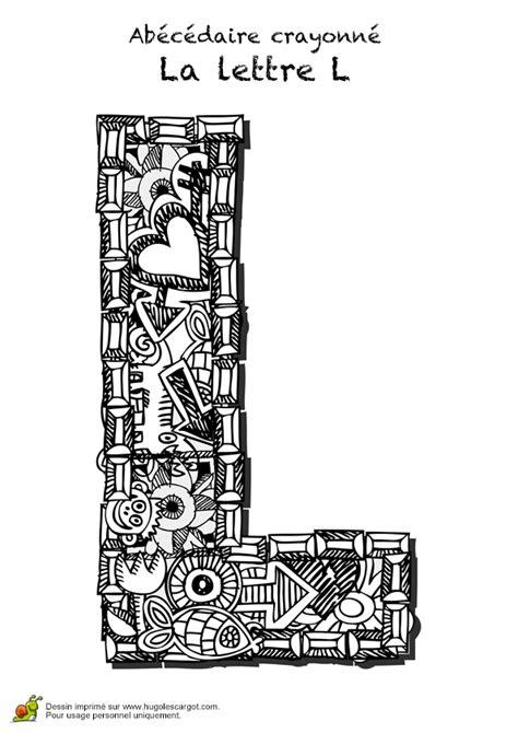 coloriage abecedaire crayonne lettre  sur hugolescargotcom