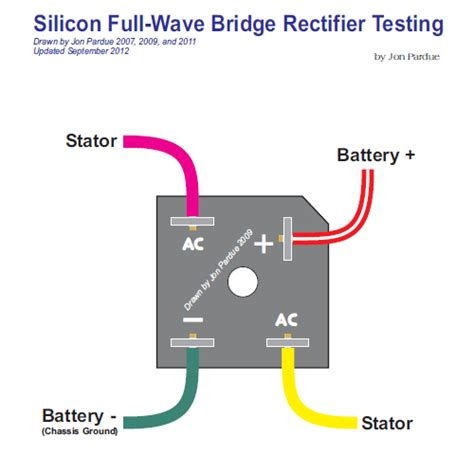 Silicon Bridge Full Wave Rectifier Testing Home The