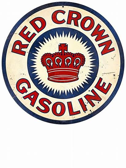 Gas Gasoline Retro Signs Sign Station Crown