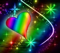 Hearts To Butterfly Valentine Love Rainbow Neon Wallpaper