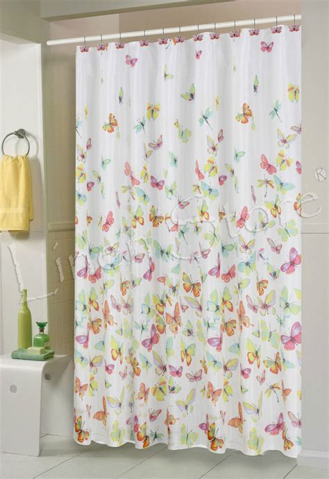 shower cloth butterfly fabric shower curtain 70x70 colorful