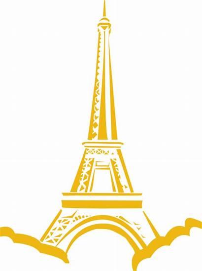 Tower Gold Eiffle Clip Clipart Eiffel Clker
