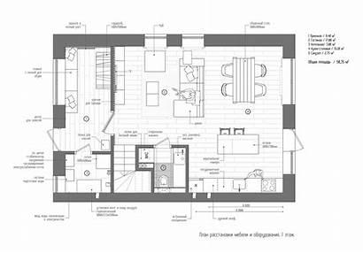 Scandinavian Plans Modern Penthouse Duplex Industrial Aesthetics