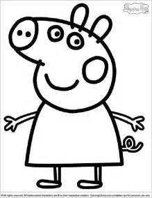 cake top peppa pig coloring pages bestofcoloring
