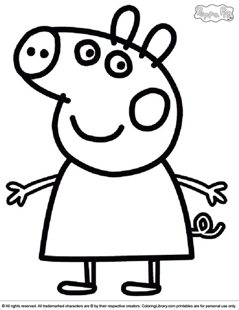 Coloring Peppa Pig by Peppa Pig Coloring Picture