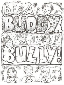 buddy   bully coloring sheet  ms gartrells art