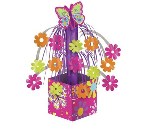 decoration de table papillon d 233 coration table anniversaire enfant th 232 me papillon centre de table avec franges fleurs