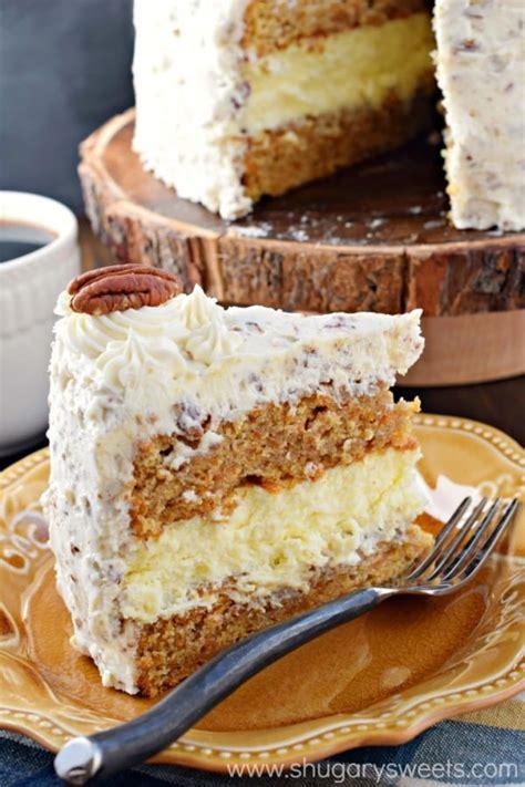 carrot cake cheesecake carrot cake cheesecake cake shugary