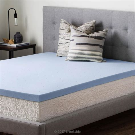 memory foam mattress topper xl brookside 2 5 in xl gel infused memory foam mattress
